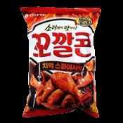 Lotte Kko Kkal Corn Spicy Chicken 5.07oz(144g), 롯데 꼬깔콘 치먹 스파이시맛 5.07oz(144g)