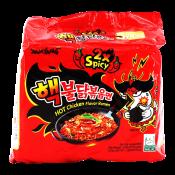 Samyang Extra Hot Chicken Flavor Ramen 4.94oz(140g) 5 Packs, 삼양 핵불닭볶음면 4.94oz(140g) 5팩