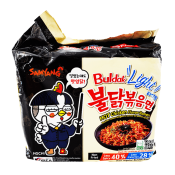 Samyang Light Hot Chicken Flavor Ramen 3.88oz(110g) 5 Packs, 삼양 라이트 불닭볶음면 3.88oz(110g) 5팩