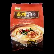 Chilkab Perilla Seeds Knife Cut Noodles 13.64oz(387g), 칠갑농산 들깨 칼국수 13.64oz(387g), Chilkab Perilla Seeds Knife Cut Noodles 13.64oz(387g)