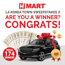 H Mart LA Korea Town Sweepstakes 2 Event- Congratulations to All the Winners