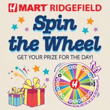 H Mart Ridgefield(NJ) Spin the Lucky Wheel Event!