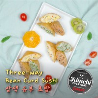 Three-way Bean Curd Sushi / 삼색 유부초밥
