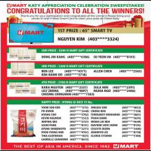 [H Mart Houston Texas] Congratulations to all the winners!