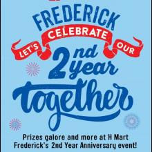 H Mart Frederick 2nd Year Anniversary Event