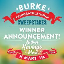 [H Mart Burke VA] Congratulations to All the Winners!