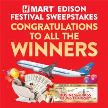 H Mart Edison (NJ) Congratulations to all the winners