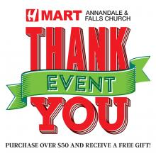 [H Mart Annandale & Falls Church - VA] Customer Appreciation Event