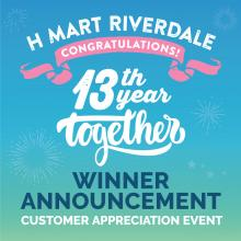H Mart Riverdale, GA - Congratulations to All the Winners