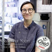 Chocolatier Susanna Yoon at Stick With Me Sweets : Brown Sugar and Honey & Sea Salt Caramel