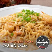 Ramyun Cream Pasta / 라면 크림 파스타