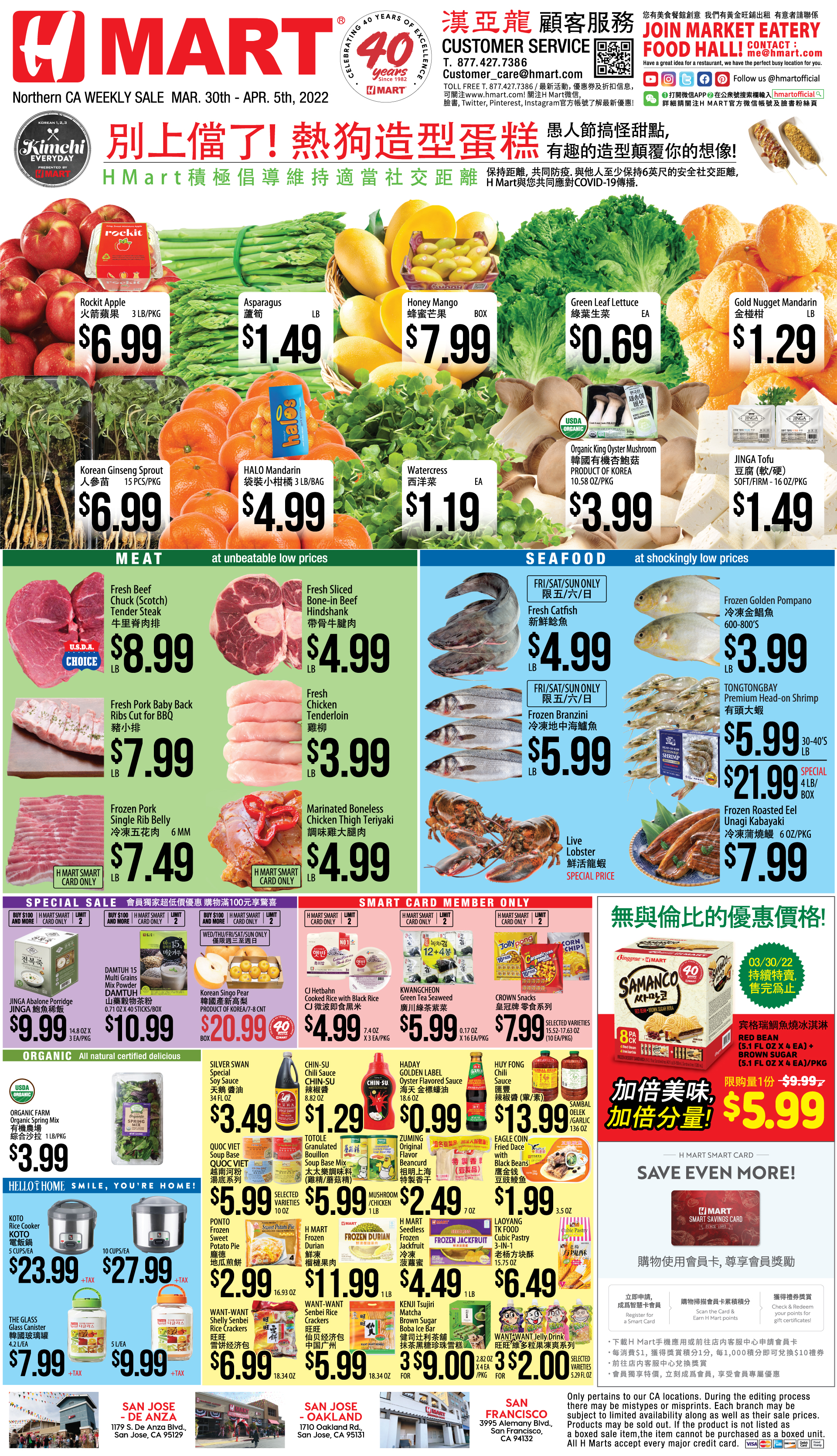 Weekly sales on Northern California