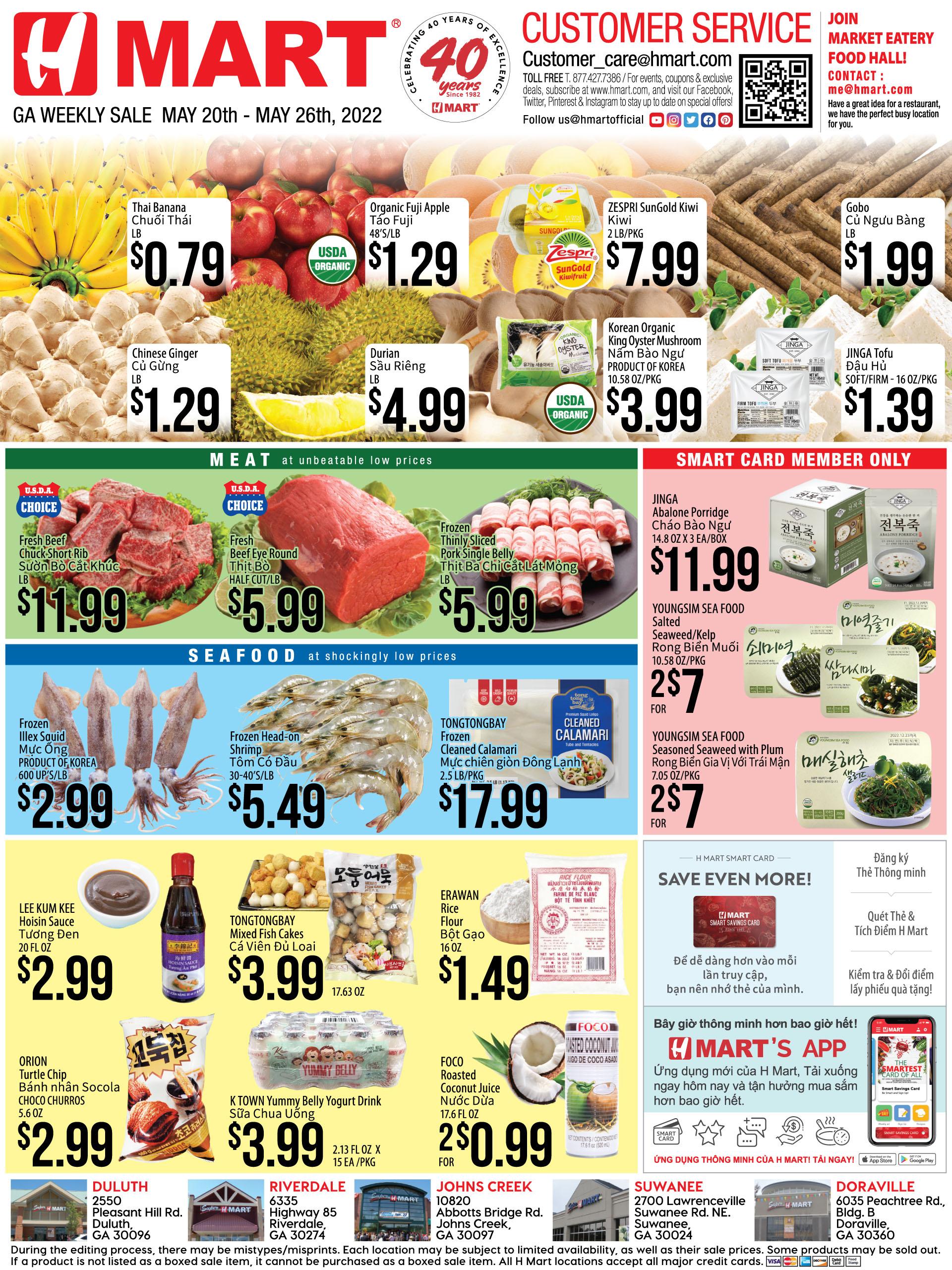 Weekly sales on Georgia