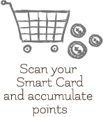 scan your smart card and accumulate points