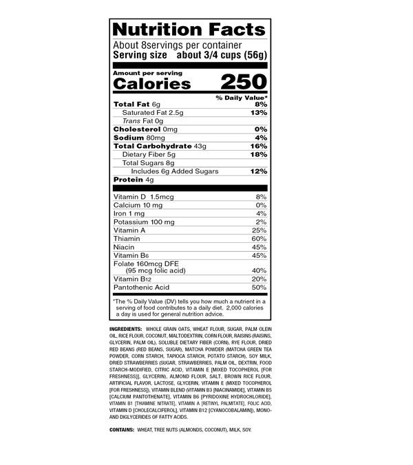 Frugra (Fruit & Granola) Matcha Flavor 15oz(425g)