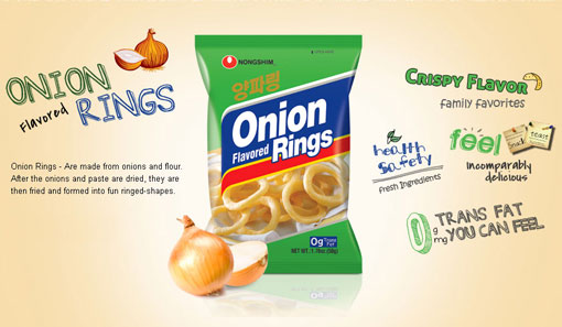Nongshim Onion Flavored Ring Big Size 5.99oz(170g)