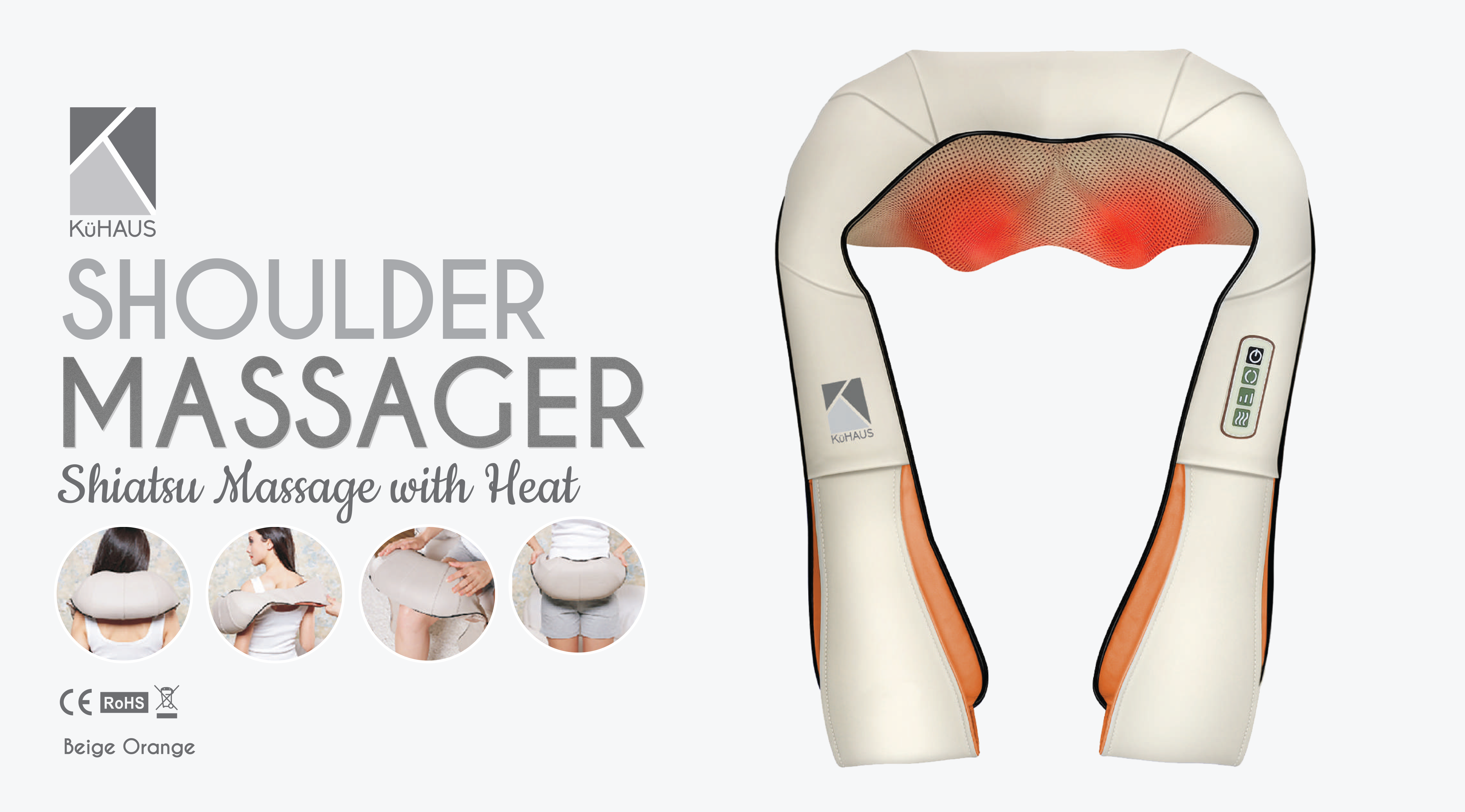 Shoulder Massager Beige Orange