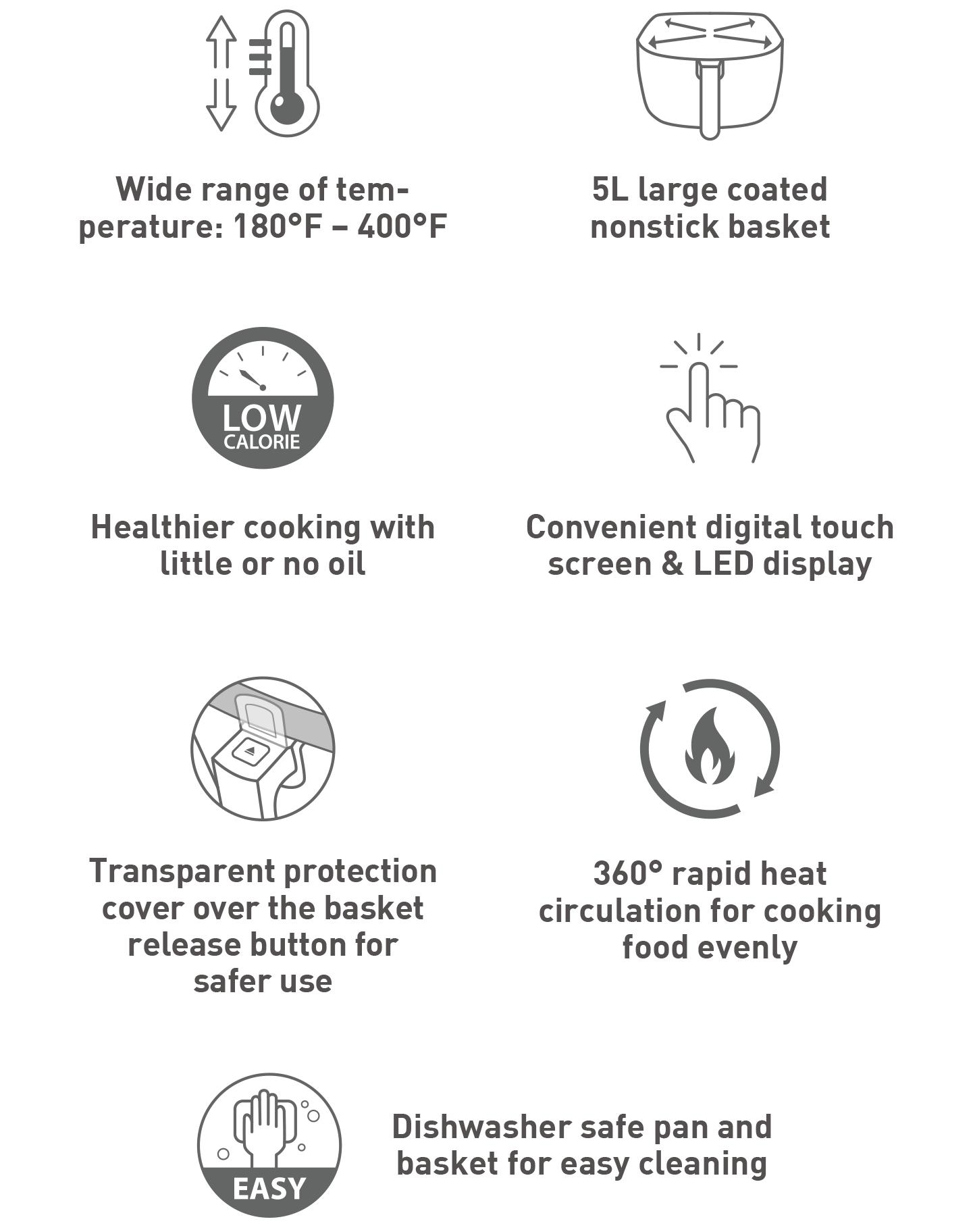 Touch-Screen Air Fryer Mint
