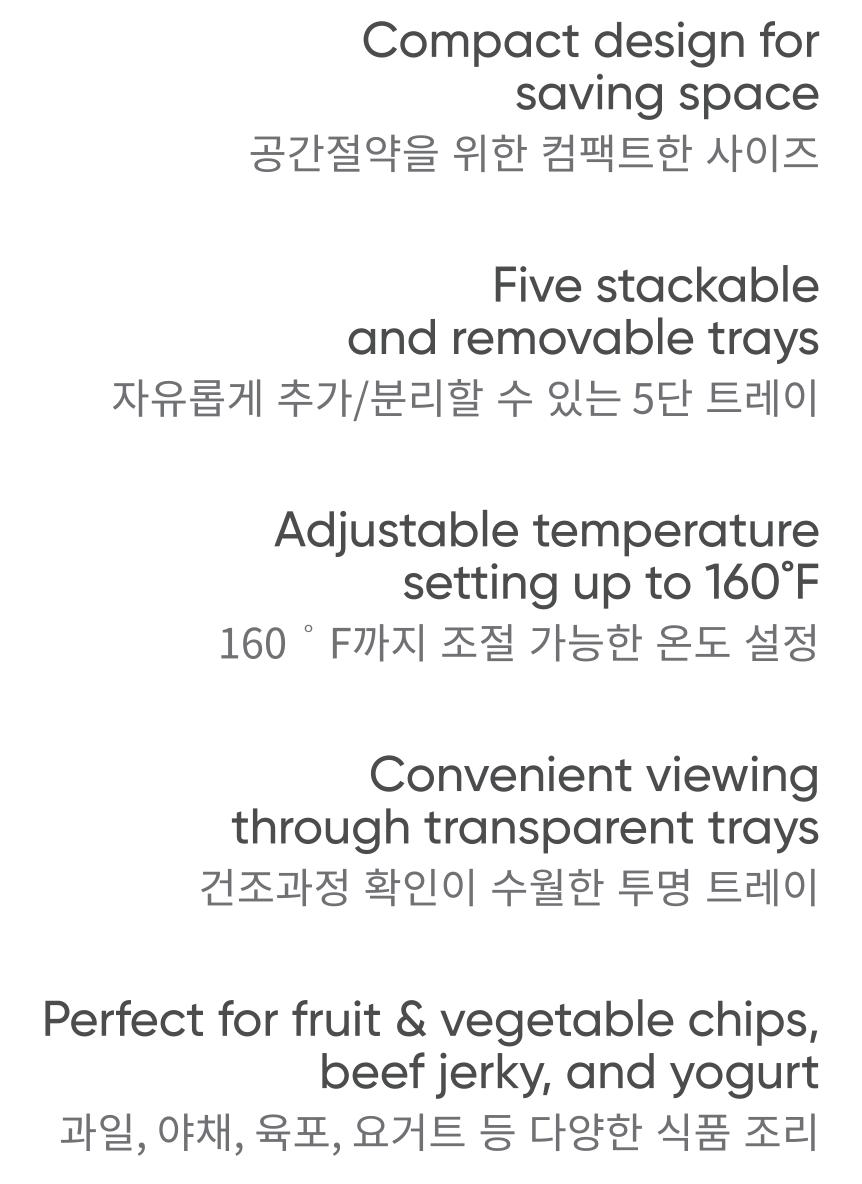 5-Tier Mini Food Dehydrator White