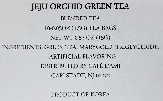 Jeju Orchid Green Tea Blended Tea 0.52oz(0.05oz X 10 Tea Bags)