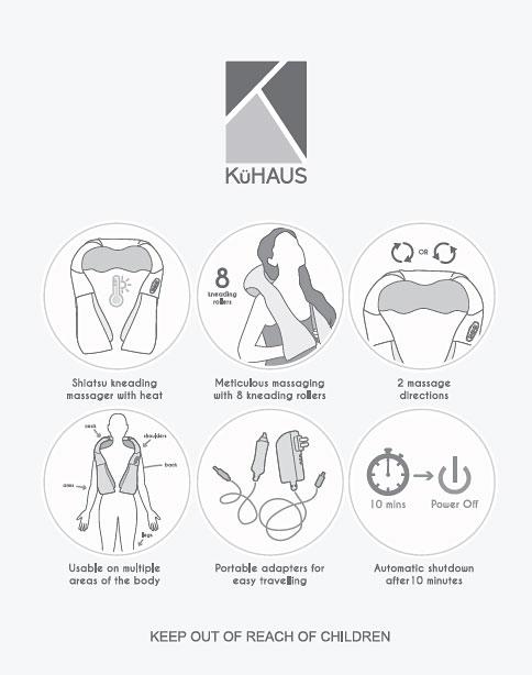 Shoulder Massager Beige Description