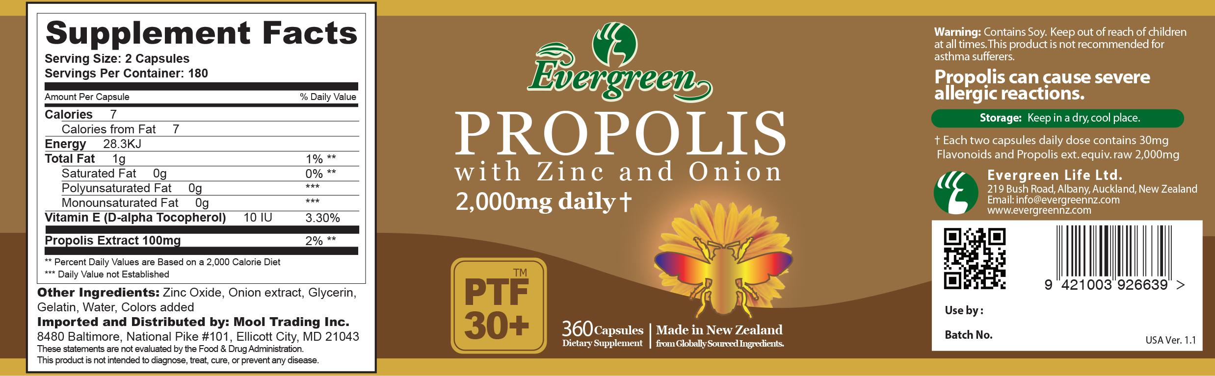 Propolis 500mg 360 Caps
