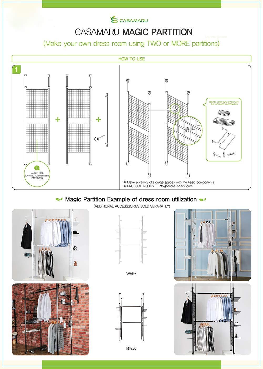 Magic Partition Hanger Rods Set of 2